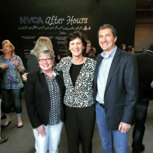 Maureen and Jim Adox congratulate new NVCA Director Jan Garfinkle