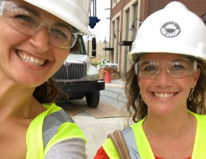 MVCA Event & Program Manager, Molly Theis, and MVCA Associate Director, Emily Heintz, get a sneak peek of Little Caesars Arena!
